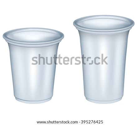 Disposable Plastic Cups - stock photo