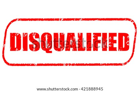 Disqualified stamp on white background