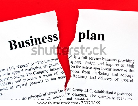 disrupted form of business plan - stock photo