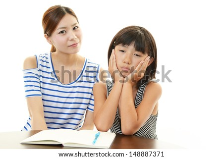 Dissatisfied girl - stock photo
