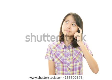 Dissatisfied girl - stock photo