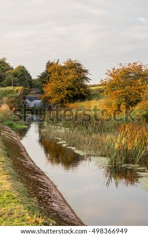 Dissused and abandoned Lancaster canal at Tewitfield, Carnforth, Lancashire, UK