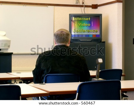 Distance Learning, Internet Video Conference - stock photo