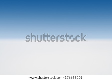 Distant horizon as seen from the high altitude in the Earth's atmosphere. - stock photo