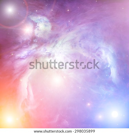 Distant stellar system. Digital illustration. Elements of this image furnished by NASA. - stock photo