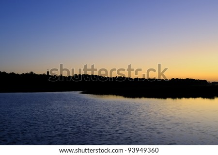 Distant View of Lighthouse - stock photo