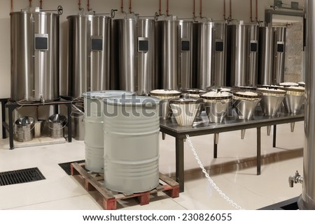 Distiller for the production of perfume in Fragonard factory in Grasse, France - stock photo
