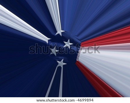 distorted abstract flag - stock photo