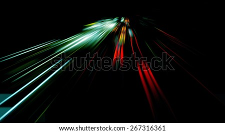 Distorted light - stock photo