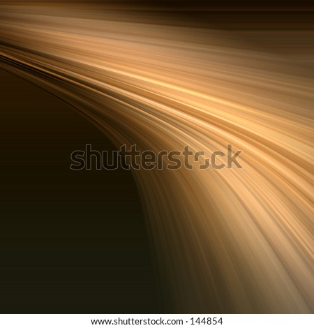 Distorted rays of gold light - stock photo