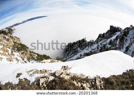 distortion landscape - stock photo