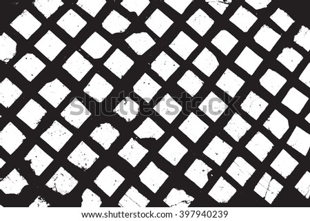 Distress Grid Overlay Texture For Your Design. - stock photo