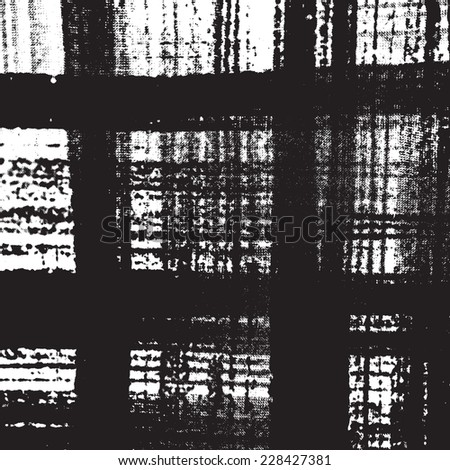 Distress Overlay Checkered Texture for your design. - stock photo
