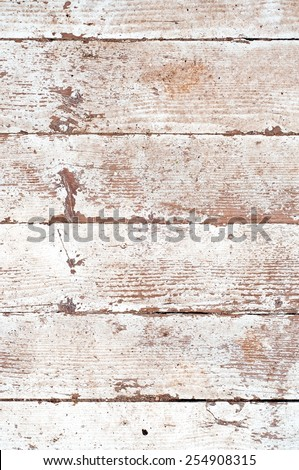 Distress wooden planks with peeled white paint. - stock photo