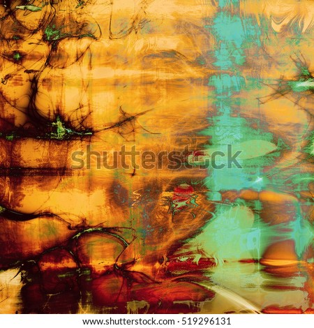 Distressed texture, faded grunge background or backdrop. With different color patterns: yellow (beige); brown; green; blue; red (orange); pink