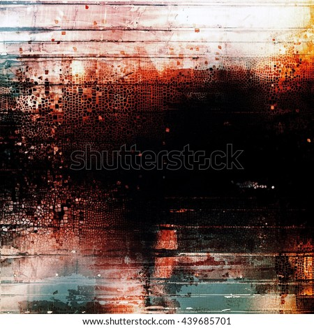 Distressed texture with ragged grunge overlay. Wrinkled background or backdrop with different color patterns: yellow (beige); brown; blue; red (orange); black; white - stock photo