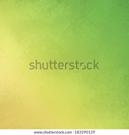 distressed yellow green background with soft faded grunge background texture angled on borders, smeared green gold painted wall presentation background, spring green website backdrop - stock photo