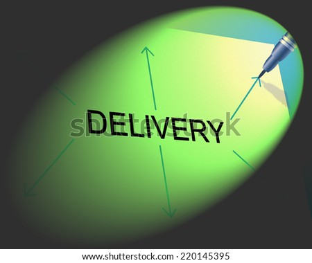 Distribution Delivery Showing Supply Chain And Package - stock photo
