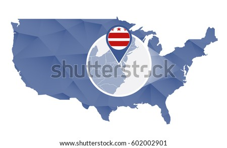 District Of Columbia State Map Stock Images RoyaltyFree Images - Us map district of columbia