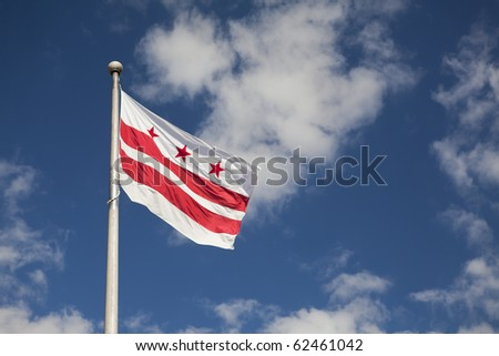 District of Columbia (Washington, DC) Flag - stock photo