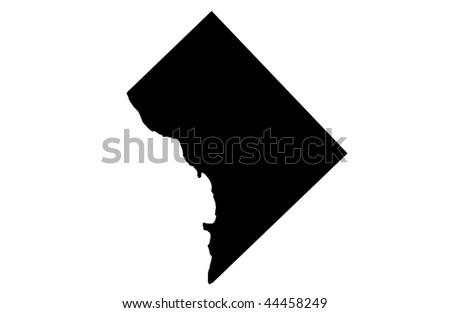 District of Columbia - white background - stock photo