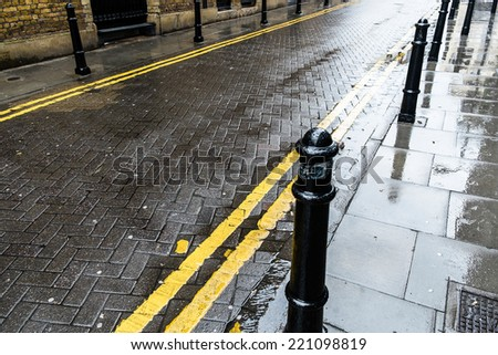 District of Shoreditch and Hoxton in London, UK - stock photo