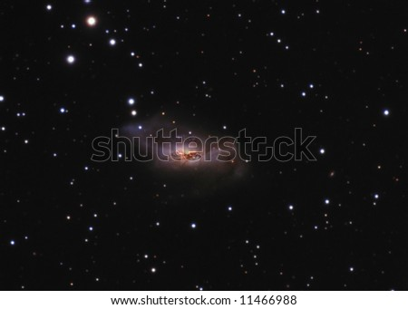 Disturbed Galaxy NGC2146 - stock photo