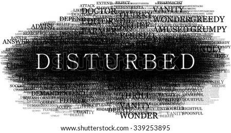 Disturbed word.