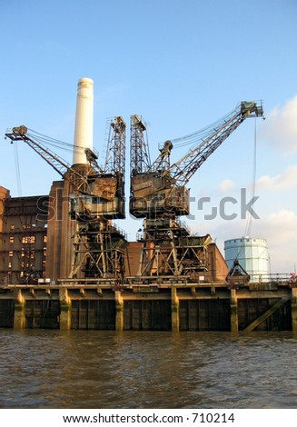 Disused Battersea Power station - stock photo