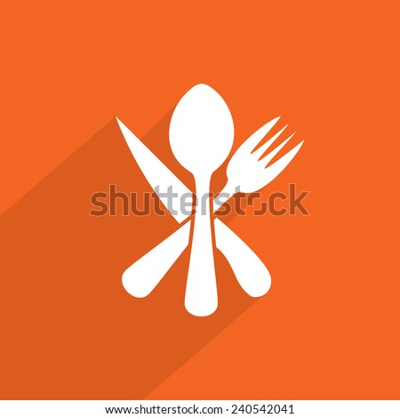 disware and cutlery web flat icon illustration.