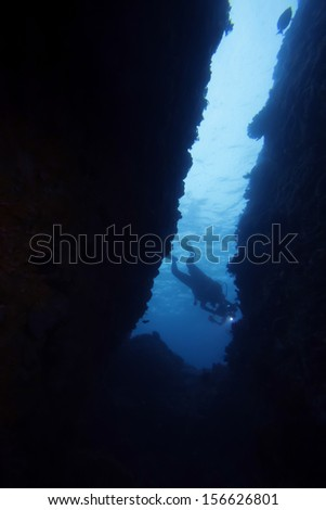 dive into cave