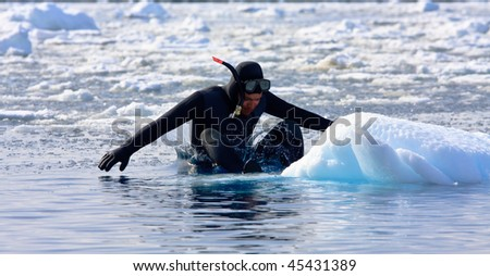 Diver on the ice