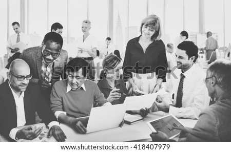 Diverse Business People Working Teamwork Cooperation Concept
