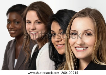 Diverse group of businesswomen.