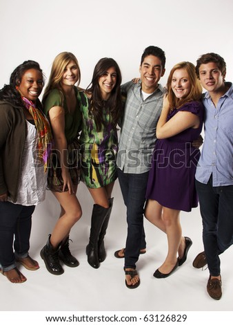 Diverse Group of Friends - stock photo