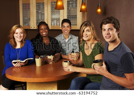 Diverse Group of Friends Reading the Bible