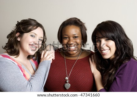 Diverse Group of Girlfriends - stock photo