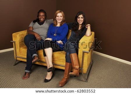 Diverse Group of Girlfriends Hanging Out