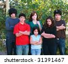 diverse group of multi-ethnic real people teens - stock photo
