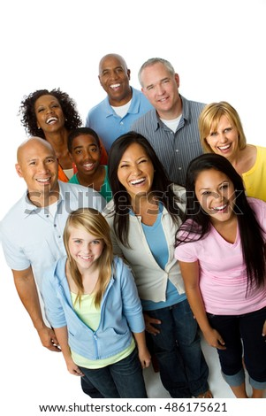 Diverse Group Friends Multicultural People Smiling Stock ...