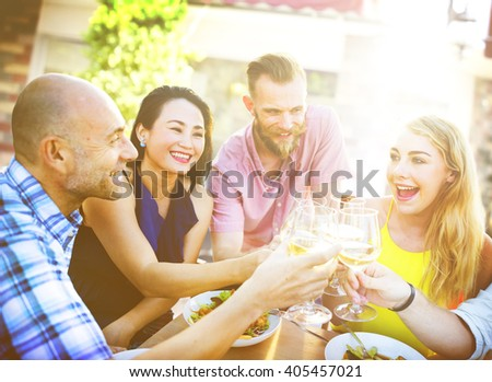 Diverse People Friends Fun Bonding Summer Concept