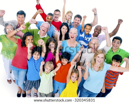 Diverse People Happiness Friendship Celebration Concept