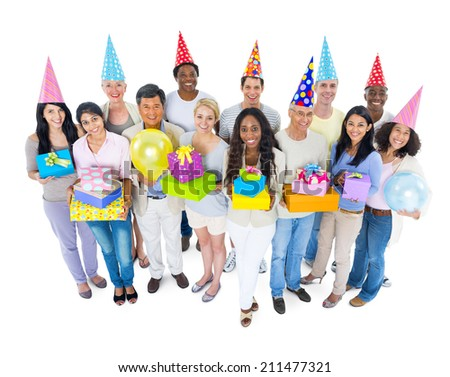 Diverse People Having A Party - stock photo
