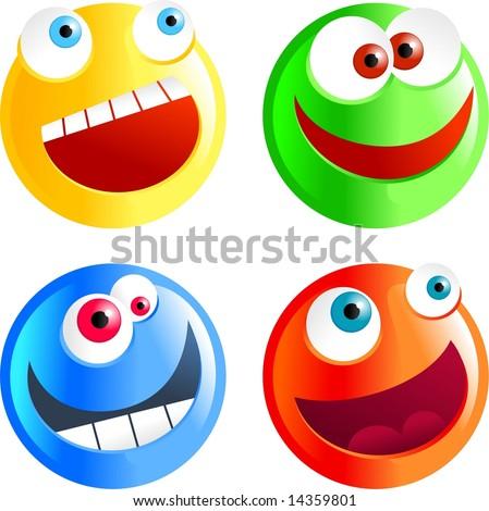 diverse smilies - stock photo