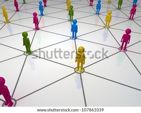 Diverse Social Network Grid - stock photo