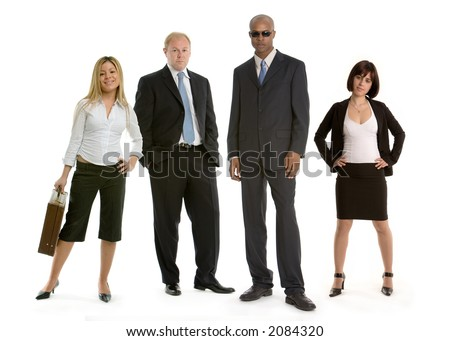 Diverse team of colleagues at work - stock photo
