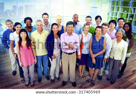 Diversity Business Collaboration Partnership Teamwork Concept - stock photo