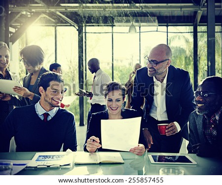 Diversity Business People Discussion Meeting Board Room Concept - stock photo