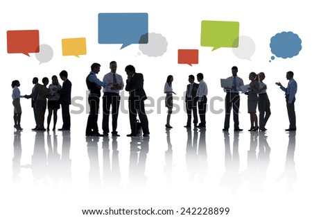 Diversity Business People Discussion Teamwork Meeting Concept - stock photo