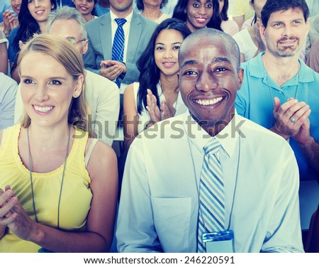 Diversity Casual People Teamwork Organization Seminar Concept - stock photo